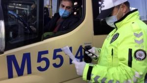 Fazla yolcu taşıyan minibüse ceza