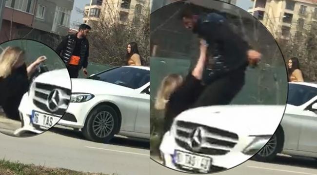 Sokak ortasında erkek arkadaş terörü!