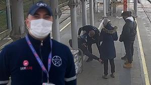 Tramvay istasyonunda hayat mücadelesi