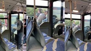 Metrobüste 2 grup dehşet saçtı