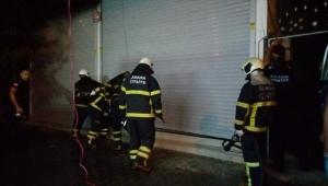Adana'da yoğurt imalathanesinde yangın