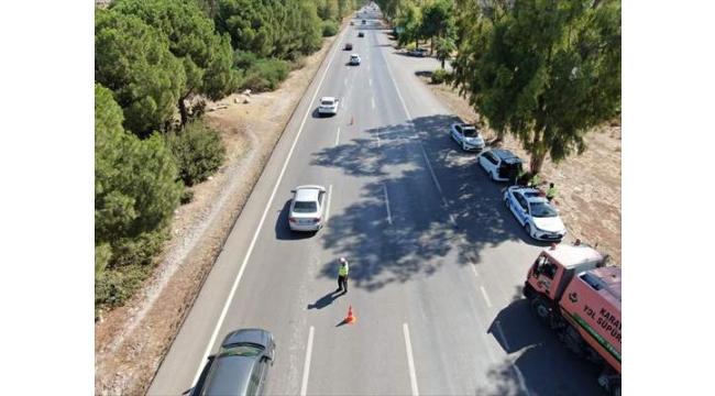 Drone destekli trafik denetimi yapıldı