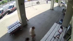 Hastane otoparkından motosiklet çaldı