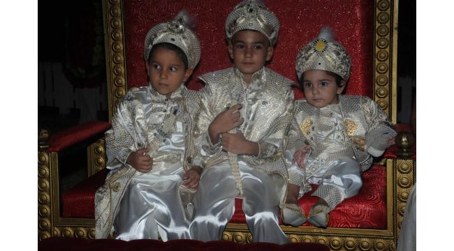 İş insanı Mithat Alp'ten 4 toruna muhteşem sünnet düğünü