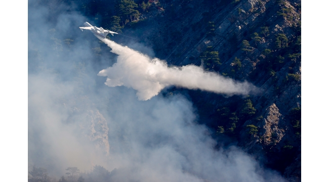 Orman yangınına müdahale ediliyor