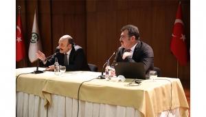 Prof. Dr. Saraç ile Prof. Dr. Mandal akademisyenlerle buluştu
