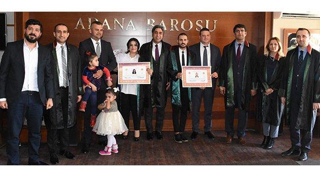 Adana Barosu'nda ruhsat heyecanı