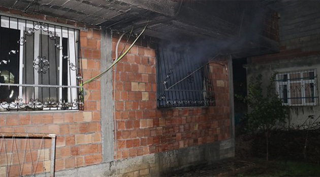 Bir ev benzin dökülerek kundaklandı