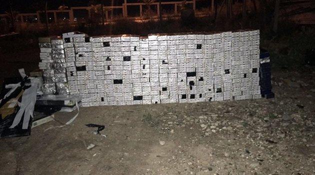 Çekicinin yakıt deposundan 4 bin paket sigara çıktı