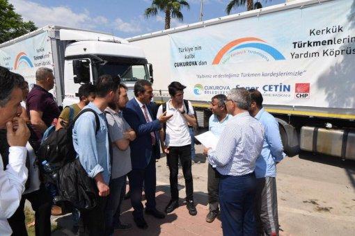 Çukurova Belediyesi'nden Türkmenlere Yardım Tırı