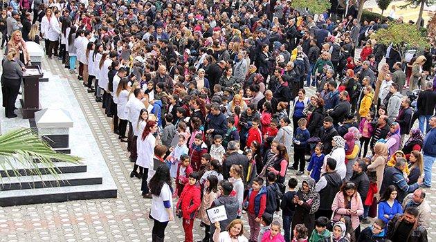 Erkan'ın bursluluk sınavına 9 bin öğrenci girdi