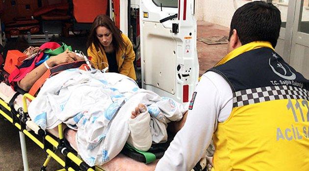 Hastaneden kaçmak istedi 3'üncü kattan düştü