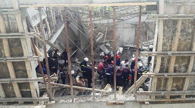   İnşaatta beton dökümü sırasında göçük! 1 ölü 5 yaralı