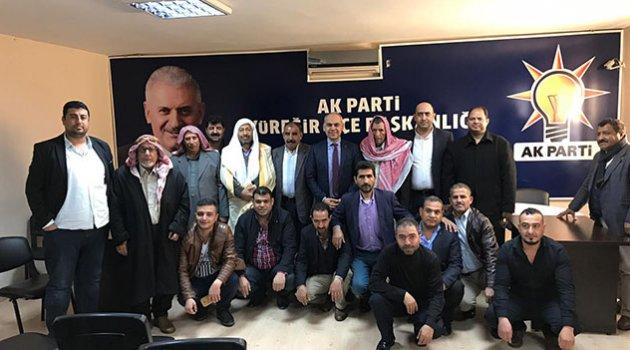 Kanaat önderlerinden Ahmet Çözer'e hayırlı olsun ziyareti