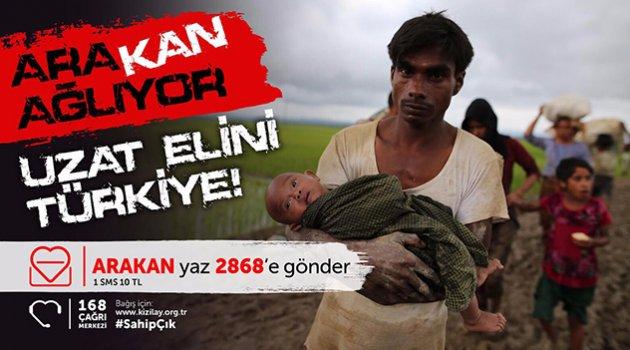 Kızılay'ın 'Arakan'a Sahip Çık Kampanyası' başladı