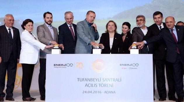 Erdoğan dev yatırımın açılışını yaptı