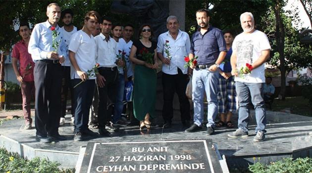 İMO, Ceyhan Deprem Anıtına Gül Bıraktı