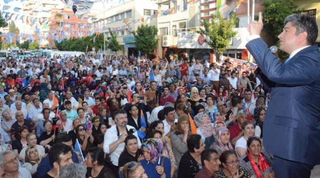 Milletvekili Adayı KISACIK'ın seçim bürosunun açılışı mitinge dönüştü