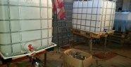 Kaçak içki imalatı yapılan eve operasyon