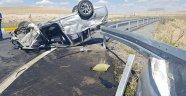 Otomobil takla attı! 1 ölü 7 yaralı