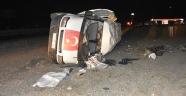 Alkol komasına giren sürücü kaza yaptı