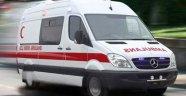 Ambulans şoförü yandı
