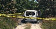 Aracında yanmış vaziyette cesedi bulundu