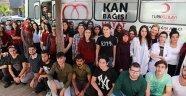 Gençlik Eğitim Merkezi öğrencilerinden kan bağışı