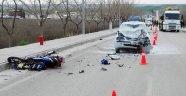 Otomobil motosikletle çarpıştı! 2 ölü, 1 yaralı