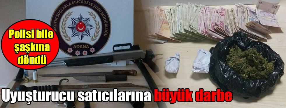 Polisi bile şaşkına döndü Uyuşturucu satıcılarına büyük darbe