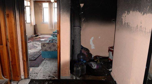 Uyuşturucu bağımlısı genç annesinin evini ateş verdi