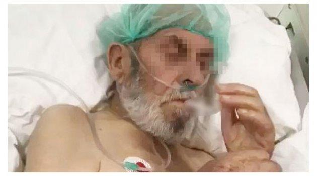 Yoğun bakım hastasına sigara verdiler