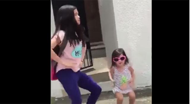 Şarkıyı duyunca dayanamayıp dans eden kız