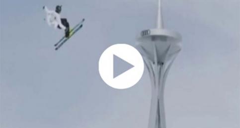 Kayakçıdan en yükseğe atlama rekoru