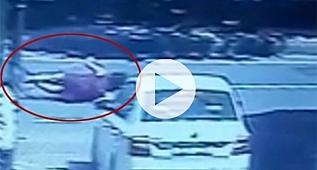 Böyle kaza görülmedi metrelerce havaya sıçradı