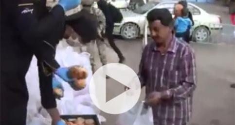 Tel Abyad'lılara ekmek dağıtıldı