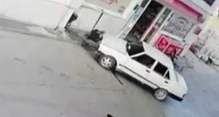 İstasyonu görevlisini otomobille böyle ezdi