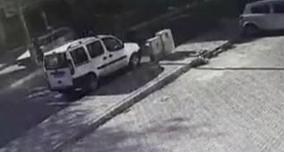 Kağıt toplayıcısı kazaya neden oldu
