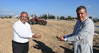 CHP'li Ayhan Barut ve Baha Ünlü, Osmaniye'de yerfıstığı üreticileriyle buluştu