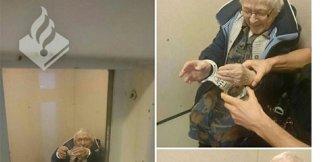 100 yaşındaki kadın kelepçelenerek hücreye atıldı