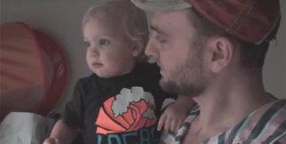 İlk Defa Yağmura Çıkan Bebeğin Babasıyla Mutluluğu!