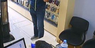 Mezuralı Hırsız kameralara böyle yakalandı