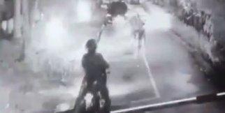 35 bin lira değerindeki motosikleti saniyeler içinde böyle çaldılar