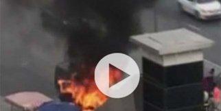 Korkutan araç yangını