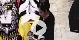 Hırsız kadın kameralara yakalandı