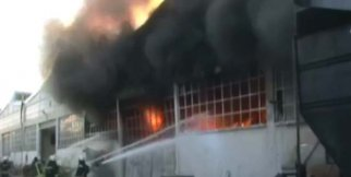 Yangın güçlükle söndürüldü